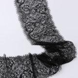 Merletto di lavoro a maglia della guarnizione del tessuto del testo fisso Allover del nastro del fiore