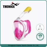Nova máscara de mergulho Premium Vista panorâmica de 180 graus da máscara de mergulho com snorkel Face Completo