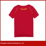 Maglietta del nero del collo di squadra del cotone 100 a Guangzhou (R05)