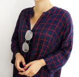 Venda por grosso de vestuário Camisa Mulheres Long-Style cubra