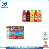 Modische niedriger Preis-Orangensaftgetränk-Flasche beschriftet Aufkleber