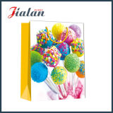 Bolso de papel impreso insignia barata de encargo del caramelo de la serie del cumpleaños del día de fiesta