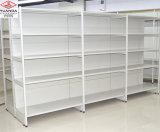 Двусторонний супермаркет для тяжелого режима работы дисплея для хранения полки