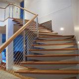 Haste de aço inoxidável ajustável do Fio do cabo de guarda da balaustrada para escadas
