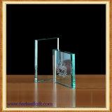 Trofeo de cristal de encargo fino del trabajo