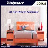 Papel pintado natural no tejido los 0.53*10m del papel pintado decorativo casero del gris 3D