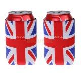 Supporto tozzo del manicotto del dispositivo di raffreddamento del barattolo di latta della birra della bandierina BRITANNICA del Jack Gran-Bretagna del sindacato di 1 accoppiamento