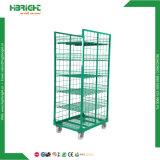 Cage de palier à roulettes à rouleaux en maille métallique pliable