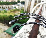 Фабрика 3 Shenzhen в 1 кабеле данным по USB с раковиной металла Highlight для PC таблетки iPhone