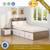 부유한 버찌 파티클 보드 백색 광택 있는 침대 디자인 (HX-8NR1048)