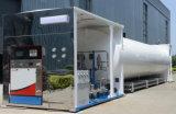 工場によって供給される移動式液化天然ガスの給油所