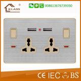 multi função do soquete 5pin com os plugues elétricos e os soquetes de néon
