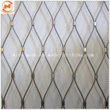 フェルールによって編まれるロープの金網の/SS316装飾的なロープの網