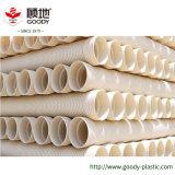 Pequeño Coeficiente de fricción de PVC de 12 pulgadas de la pared del tubo ondulado de doble conducto