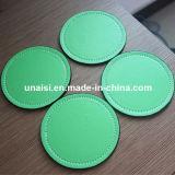 Cheap PU faux cuir tampon circulaire de tapis de coupe ronde Récapitulatif de fonctionnement