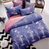 価格の2つの羽毛布団カバー枕カバーが付いている最新の青い花の寝具