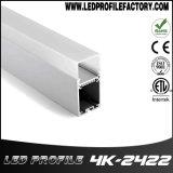4K-2422 LED de aluminio de fijación de la tira de canal de la luz de la vía con difusor