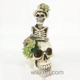 Crâne succulent de résine neuve pour Veille de la toussaint décorative