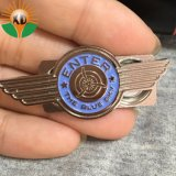 Metal superventas Soft enamel ala piloto Badge con imán