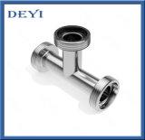 ステンレス鋼の連合(DY-T023)が付いている衛生糸のティー