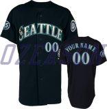 青年通気性の網によって縞で飾られる昇華させた野球ジャージー(B012)