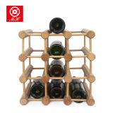 9-12 cremalheira de indicador ereta do vinho da prateleira do vinho da madeira contínua do frasco