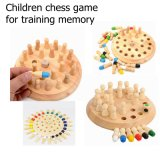 Jogos de Xadrez dice de memória de madeira crianças brinquedos educativos para crianças
