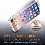 para el caso a prueba de choques del iPhone X, IMD imprimió la cubierta protectora del caso de parachoques flexible suave duro claro delgado de la contraportada TPU del caso para el iPhone X de Apple