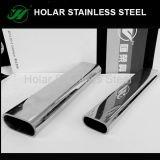 Tubo oval inoxidable de los tubos de acero 316L de AISI 304 para la barandilla