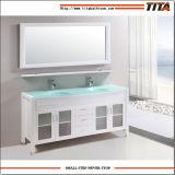 """Zoll-doppelte Wannen-Badezimmer-Eitelkeits-Möbel der amerikanischen Art-72 """" mit Spiegel"""