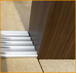 Pérgola de aluminio con las lumbreras