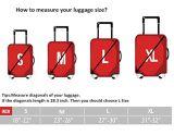 Pouce des ajustements 18-32 explorent la couverture de bagage de Spandex de caisse de chariot à cordon