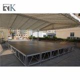 Teppich, der bewegliches Aluminiumstadium mit Stadiums-Binder für Ereignis beendet