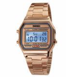 鋼鉄ストラップの偶然の腕時計の特別なデザイン内の合金の箱の腕時計