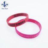 Item barato bracelete de silicone com Personalizado