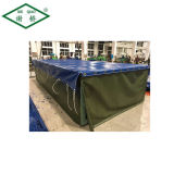 Heet verkoop pvc Met een laag bedekt Geteerd zeildoek voor de Tent/het Afbaarden van de Dekking van de Vrachtwagen