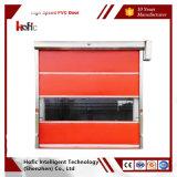 Porta rápida de alta velocidade do PVC com cor diferente