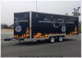 chariots mobiles de nourriture de vente d'essieu jumel de 20FT x de 7FT