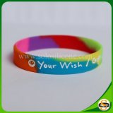 Wristband unisex variopinto del braccialetto stampato schermo del silicone 100PCS
