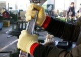 PVC 점을%s 가진 최고 커트 저항하는 반대로 미끄러짐 안전 작동 장갑