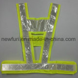 Yellow Noctilucent Mesh Special Reflective Safety Vest