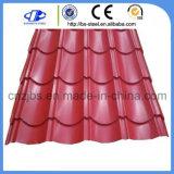 中国工場Prepaintedカラー上塗を施してある屋根はシート1枚あたりの価格を広げる