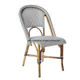 Muebles de jardín de Rattan Silla de Comedor Las patas de aluminio