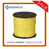 8 сильного Fluo-Желтых цвета стренг супер линий удя снасть & ровного PE удя
