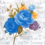 Pintura al óleo hecha a mano floral bastante floreciente