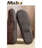 人のための暖かい冬の羊皮の偶然靴