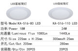 Slim Ronda 24W luz LED panel LED Downlight empotrable de techo