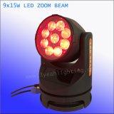 9X15W LEDs 광속과 급상승 LED 단계 빛