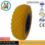 Gomma piuma gialla dell'unità di elaborazione per le rotelle della falciatrice da giardino (250-4)