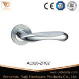 Requintado Interior de alumínio estampado puxador da porta de madeira em roseta (AL026-ZR05)